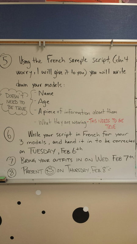 French Fashion Show Assignment Outline: - Mr  Main's Classroom